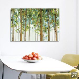 Forest Study Wall Art Canvas on Pine Frame
